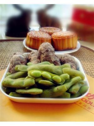 盐水芋艿毛豆夹