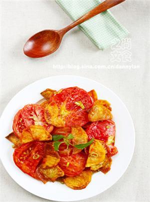 红柿炒土豆片