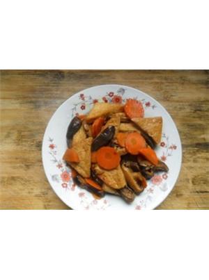 老豆腐炒素菜