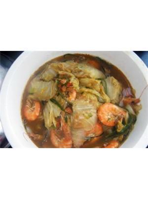 白菜海带炖大虾