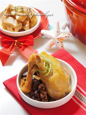 铁锅香菇水蒸鸡