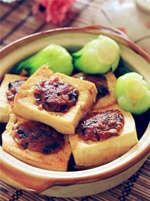 香菇肉末蒸酿豆腐