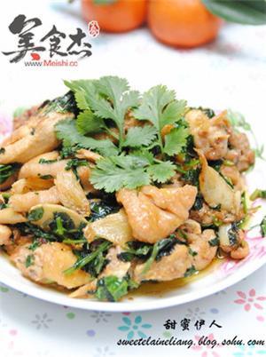 紫苏薄荷炒鸡