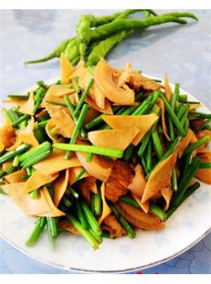 韭苔千张炒肉片