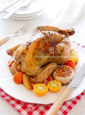 奶油香草烤鸡